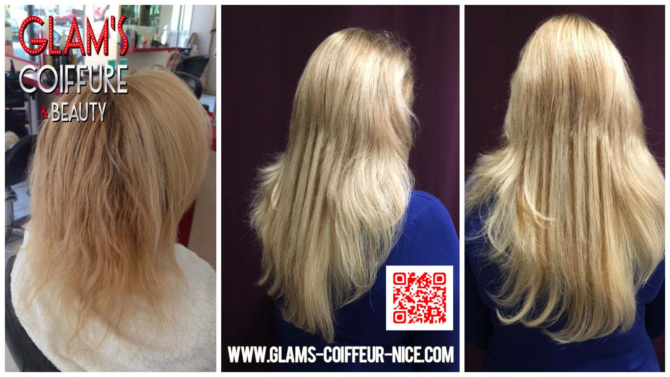 Glams coiffure extensions Russes