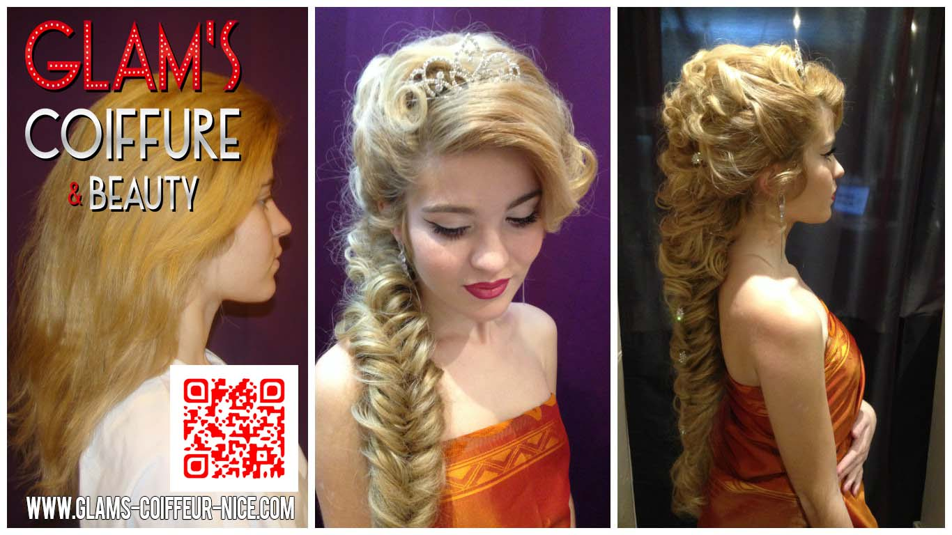 Glams coiffure extensions Russes coiffure mariage