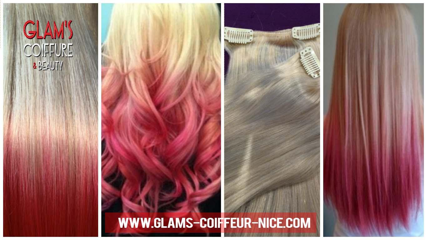 extensions cheveux russes tie & dye