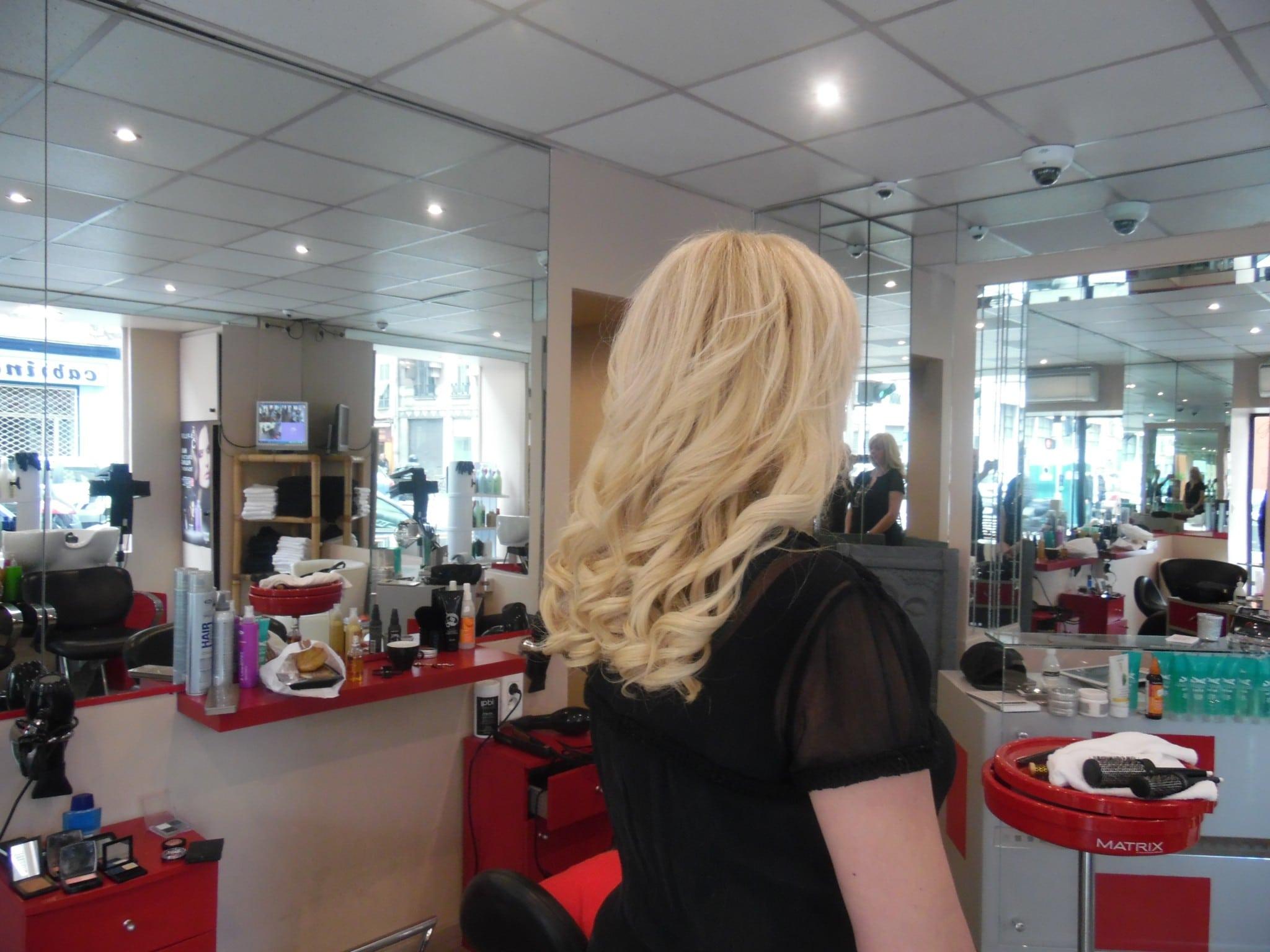 Extensions de cheveux naturelles salon GLAM'S Coiffure à Nice