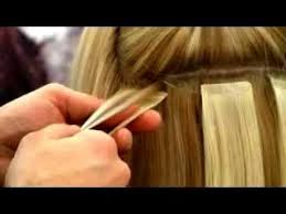 extensions à bandes de cheveux naturels salon Glams à Nice