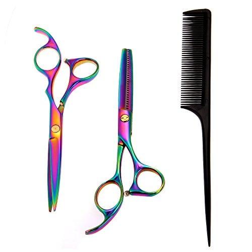 acheter maintenant     EUR 13,03 Matière: 9CR13 acier inoxCoupe de cheveux: 20-25% Taille de ciseau: 6,7 pouces (environ 17 cm) Taille de peigne: 8,26 pouces (environ 21cm)Processus: fait à la main Convient pour le salon de coiffure ou…