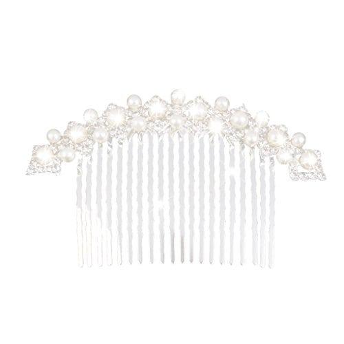acheter maintenant     EUR 3,65 Description:   Matériel: Alliage, perles artificielles, strass  Couleur: Argent + blanc  Taille (L x P): Environ 10 * 6cm   Paquet comprend:   1 x peigne Matériel: Alliage, perles artificielles, strassCouleur:…