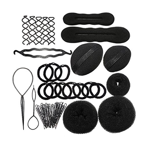 acheter maintenant     EUR 8,99 DescriptionCet article est une coiffure Accessoires kit, qui y compris différentes aiguilles, tampons, épingles, agrafes etc. pour rendre vos coiffures DIY. C'est un outil nécessaire pour les femmes. Pour faire votre propre style…