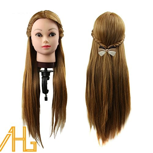 """acheter maintenant     EUR 25,99 Professional 26 """"Super Long 30% reel Cheveux coiffure Equipement Mannequin Head formation pour le college et a usage professionnel,30% de vrais cheveux humains + 70% de cheveux synthetiques[artificiels],La longueur des cheveux: 26 pouces…"""