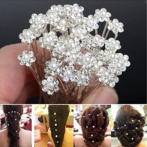 acheter maintenant     EUR 1,95 emballage: 20pcs Pins cheveuxMatériel: Alliage & Strass & PearlCouleur blancheFleur Taille: 8mmLongueur: 5,9 cmemballage: 20pcs Pins cheveux  …