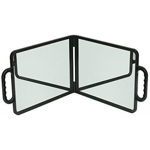 acheter maintenant     EUR 15,20 Miroir double pliant pour une vision maximum et un rangement minimum.Dimension: Largeur 29 Cm – Hauteur 22 CmDéplié rajoutez 29 CmGarantie: 6 mois  …