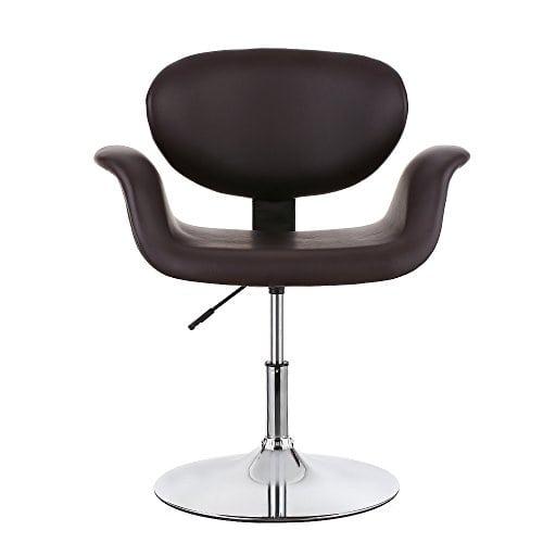 acheter maintenant     EUR 59,99 Il s'agit d'une chaise de salon de luxe et de la mode tout à fait. Exquise couverture en cuir d'unité centrale, chromé base, cambré design unique peut améliorer des conditions de votre boutique.…