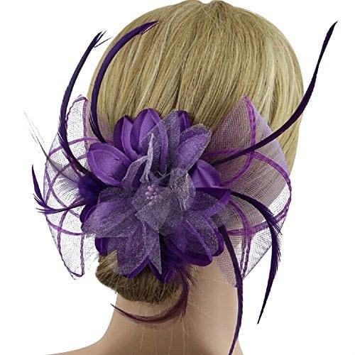acheter maintenant     EUR 3,99 Matière: plume + fil net Longueur: environ 18.5cm Largeur: environ 14cm Diamètre de la fleur: environ 12.5cm Couleur: 7 couleurs au choix Quantité: 1 pc Idéal pour la mariage et la soirée,cette pince…