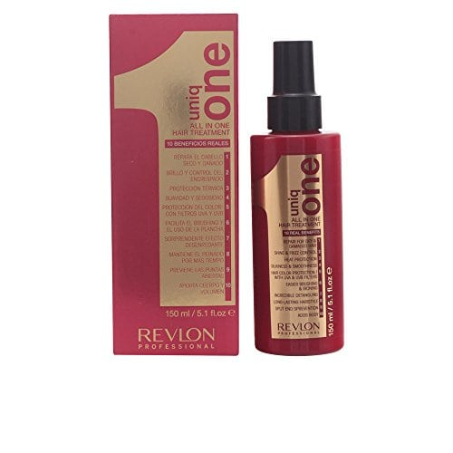 acheter maintenant     EUR 10,50 Revlon Uniq One Superb New Revlon Product… Uniq ONE is a fantastic leave-on mask that offers TEN real benefits to ensure hair is left healthy beautiful and protected. Uniq ONE assists the repair…