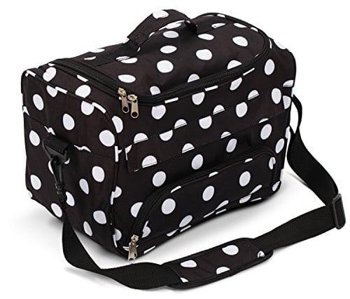 acheter maintenant     EUR 22,55 Jolie et résistantObtenir un sac de assez robuste pour résister à utilisation quotidienne et de Voyage International mais joli vous serez fier d'avoir sur votre bras. Sac à outils de coiffeur Kenley a…