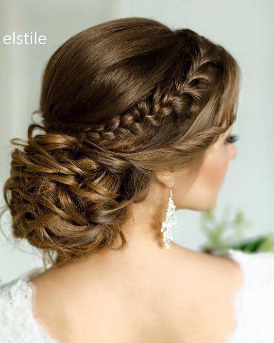 braided wedding hairstyle idea via Elstile / www.himisspuff.co… Source by deerpearlflower   …