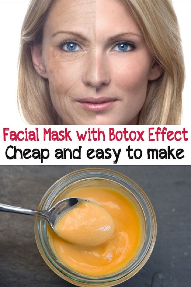 Cheap and easy facial mask with Botox effect – 7 Daily Skin Care Tips That Will Make You Look 10 Years Younger