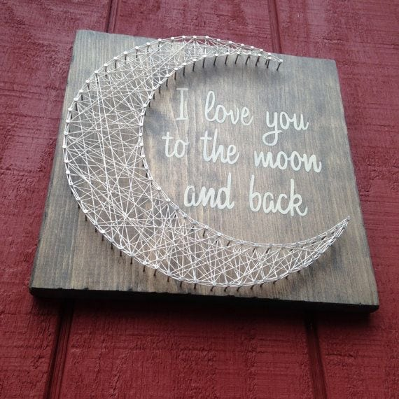 [ad_1]  I love you to the moon and back String Art door CrookedTreeTraders Source by dianaslor [ad_2]  …