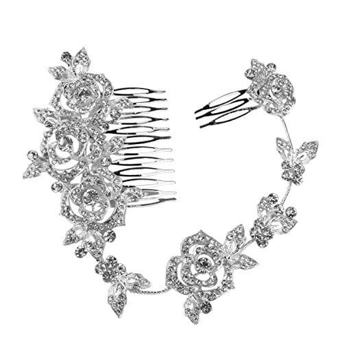 [ad_1]   acheter maintenant     EUR 8,69 DescriptionL'élément est un mode délicat femmes filles peigne pince à cheveux, qui est principalement constitué d'alliage et strass cristal strass un décor pour le rendre plus unique et charmant. En outre, la pince…