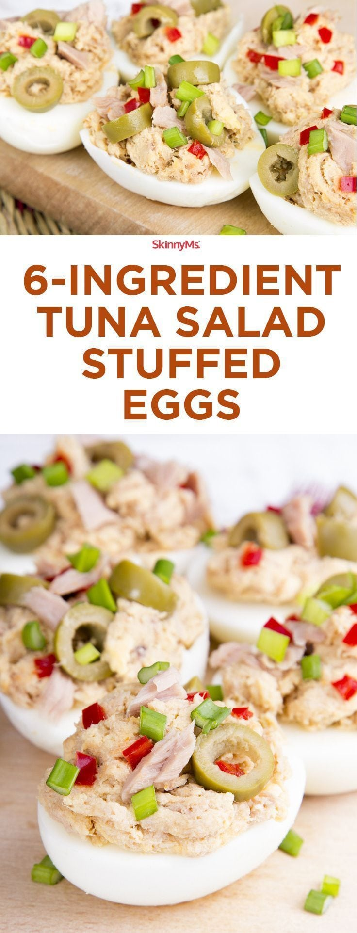 6-Ingredient Tuna Salad Stuffed Eggs – you've never had tuna salad like this before! #skinnyms Source by skinnyms   …