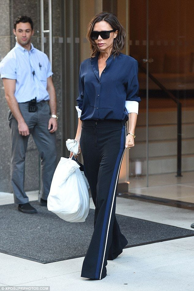 Always prepared:She'll be presenting her new collection for NYFW on Monday. So Victoria Beckham ensured she got an early start on Sunday to sort out the last minute preparations Source by taradorsey   …