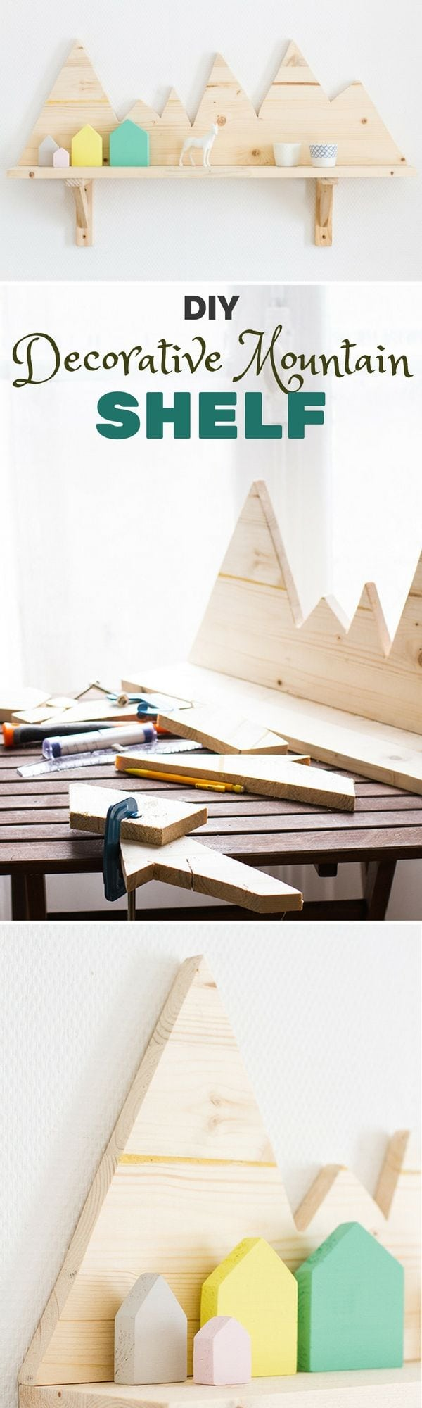 Check out the tutorial: #DIY Decorative Mountain Shelf Industry Standard Design Source by istandarddesign   …