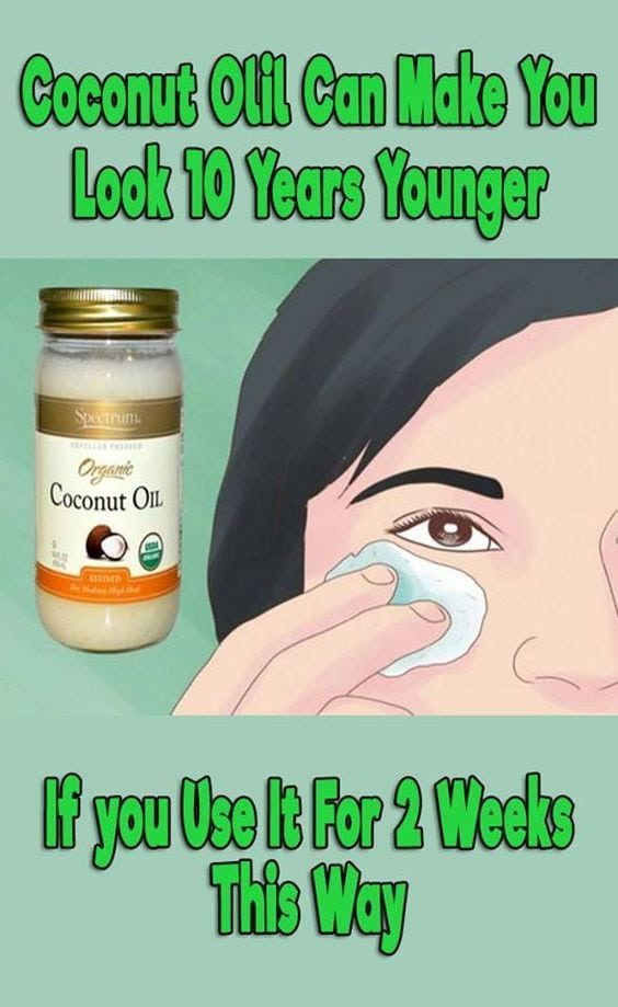 Coconut oil for maintaining youthful skin.  May have to pick up some coconut oil from Superdrug.