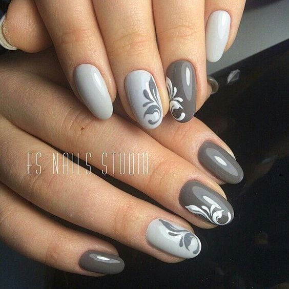 Here comes one of the easiest nail art design ideas for beginners. Source by saskia74   …