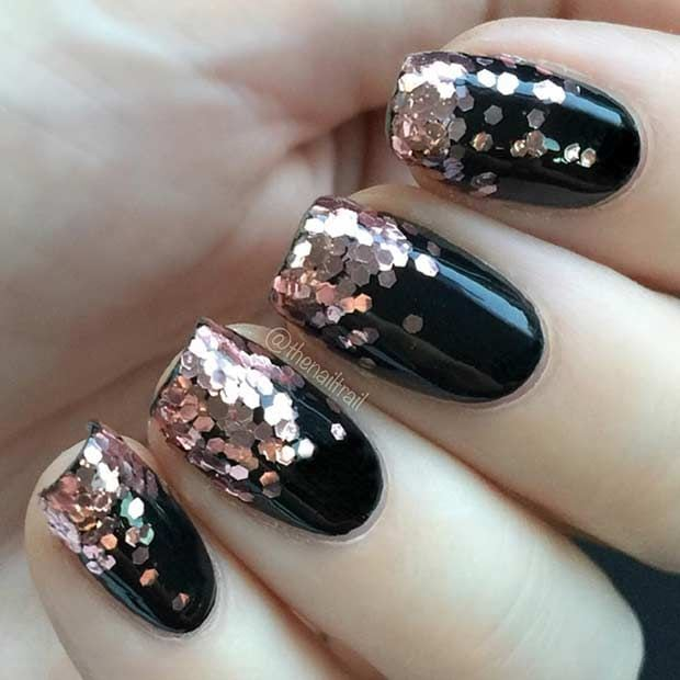 Last Minute New Year's Eve Nail Design Source by stayglamcom   …