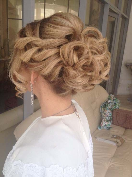 long wavy wedding updo hairstyle 2 via aleksandra prudnikov Source by rcannestra   …