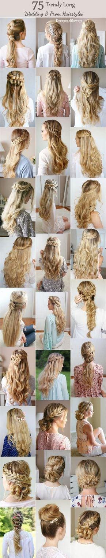 Long Wedding & Prom Hairstyles from Missysueblog / www.deerpearlflow… Source by fdalkran   …