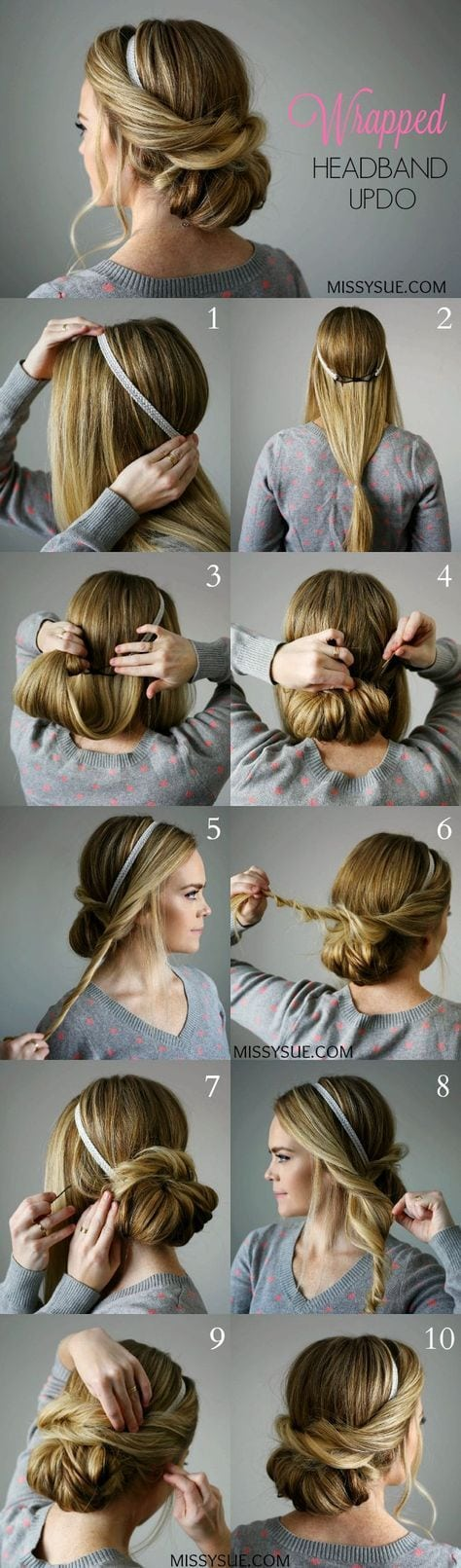 25 Step By Step Tutorial For Beautiful Hair Updos. Source by tsteffey   …