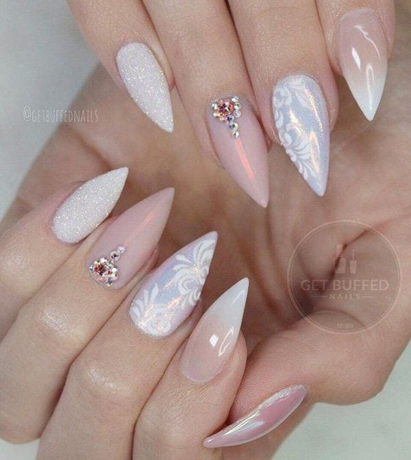 Almond shape of nails, pastel shades, beige color combined with white will make your hands look gentle and cultivated. It is very important, if you are doing a regular manicure and dry the gel under the UV lamp, to the…