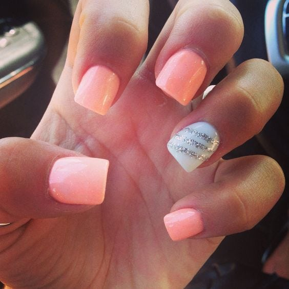 Coral | 16 Easy Easter Nail Designs for Short Nails | Cute Spring Nail Art Ideas for Kids Source by hitormiss2310   …