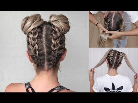 Cute Double Bun Hair Tutorial – YouTube Source by sleightofhan   …