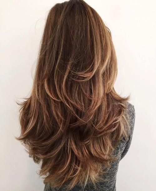 Long Layered Haircut For Thick Hair Source by NancyG7161   …