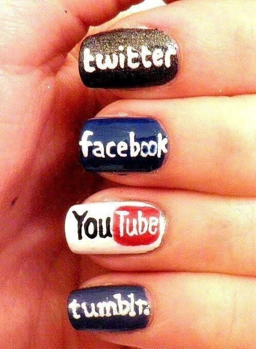 Social Media nail designs Source by breezyburns   …
