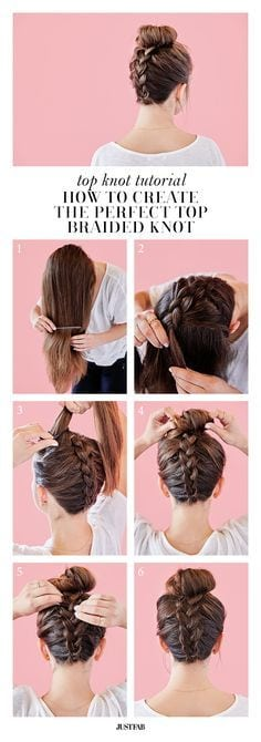 We think this braid is top knot! Learn how to create the perfect braided top knot on blog.justfab.com Source by chri5tinaj   …