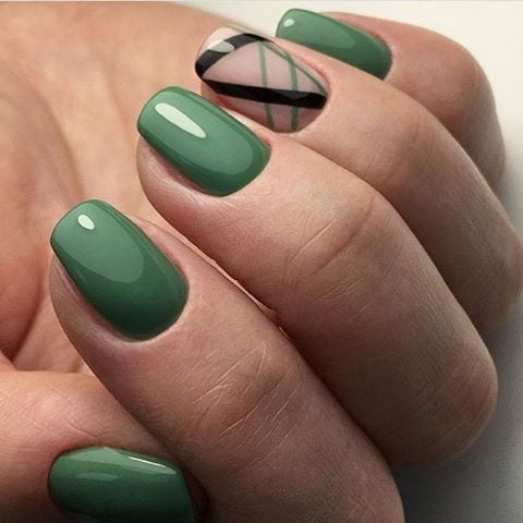 Simple green nail art design | Маникюр | Видео уроки | Art Simple Nail