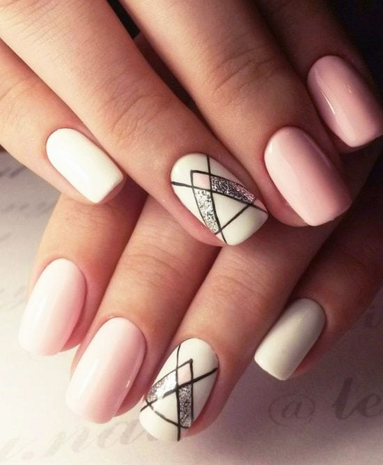 20 Shockingly Simple Geometric Nail Art Ideas You'll Love | Postris Source by janawilcher   …