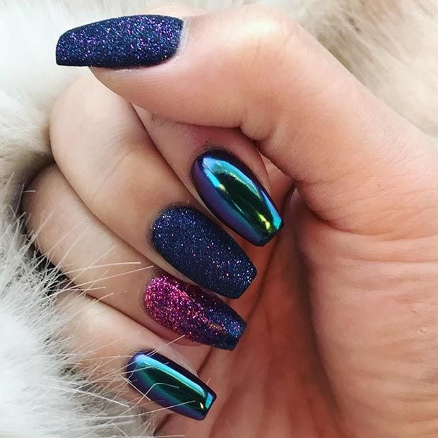 21 Trendy Metallic Nail Designs to Copy Right Now Source by mleewhite   …