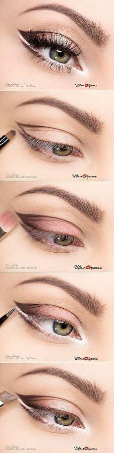Paso maquillaje para los ojos de luz | thePO.ST Source by bnels18   …