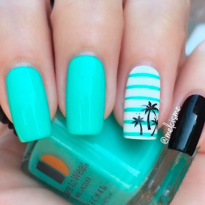 This summer, channel your inner tropical goddess with these tropical nail designs. Everything from palm trees to colorful hues! Source by StyleTips1o1   …