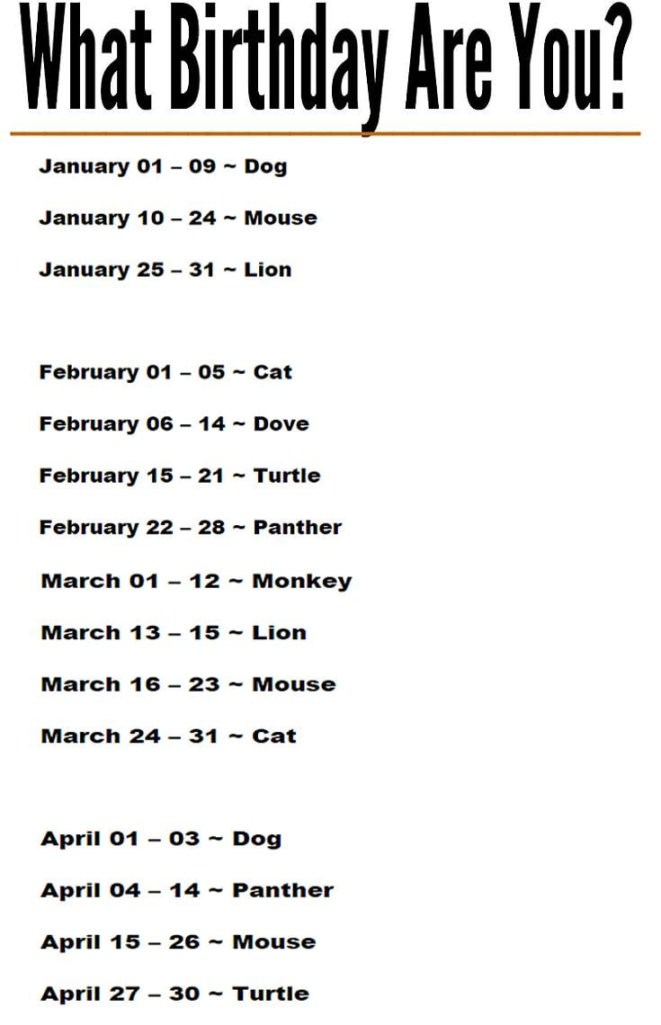 What Birthday Are You Source by ayeeyeiaie   …