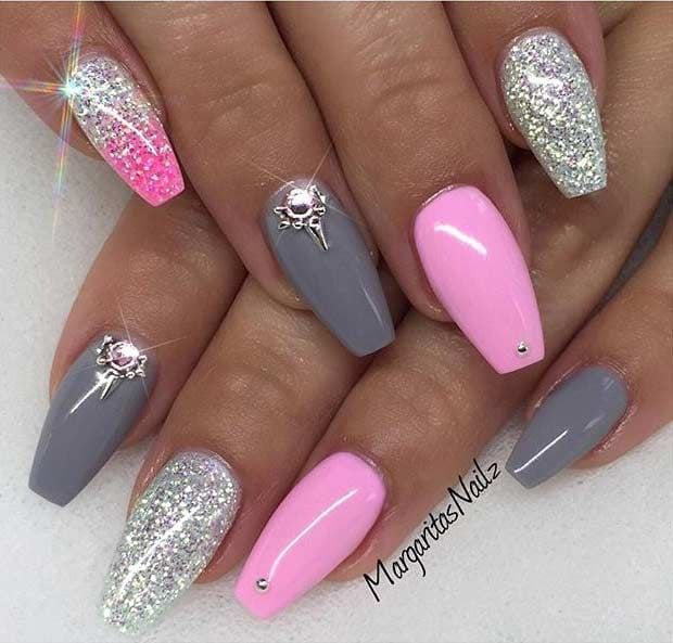 31 Trendy Nail Art Ideas for Coffin Nails Source by dowinajansma200   …