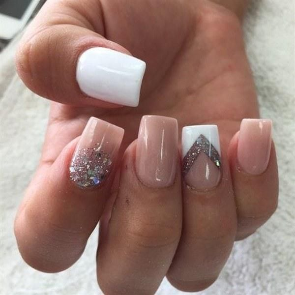 38 diseños de uñas en tono nude, Â¡la elegancia de lo sencillo! Source by anabel14   …