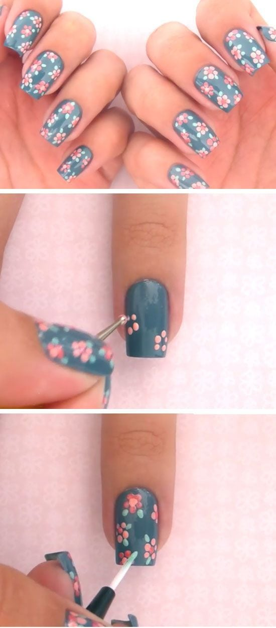 A dotting tool is a lot more versatile than just polka dots. Try creating Spring flowers, perfect for short nails. #simplynails Source by zilver70   …