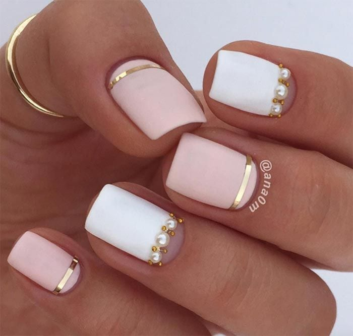 Classy Nail Art Designs for Short Nails Source by fabiennedal   …
