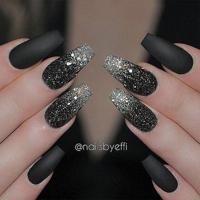 Love a good matte black manicure  @nailsbyeffi Nail Design, Nail Art, Nail Salon, Irvine, Newport Beach Source by 52helene   …