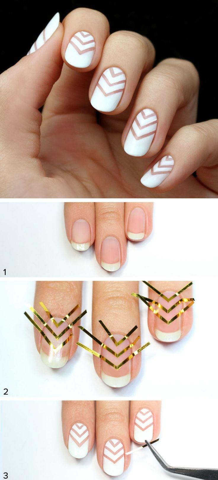 Chevron #manicures #beautyhacks Source by dollishcake   …