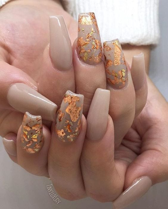 fall nails inspiration Source by rosaliebeemster   …