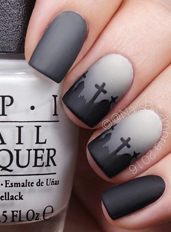 halloween-nail-art – 45 Cool Halloween Nail Art Ideas Source by cuded   …