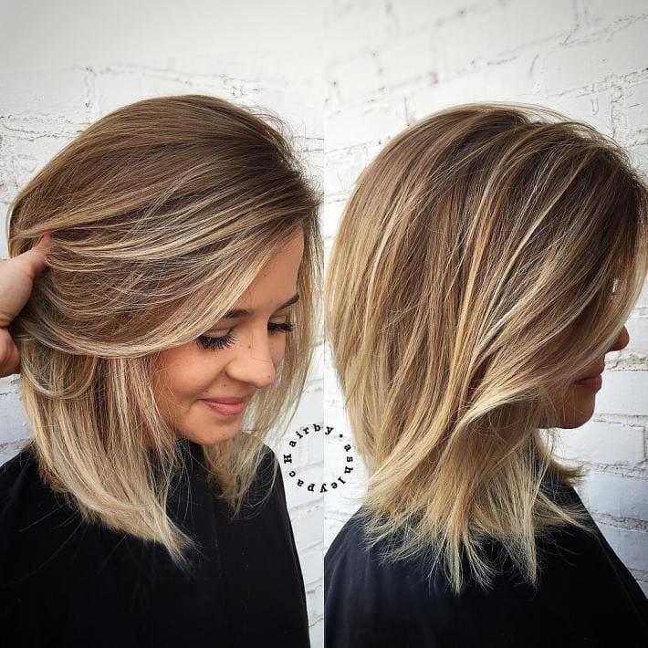 Medium Hair With Blonde Balayage Source by ingelke87   …