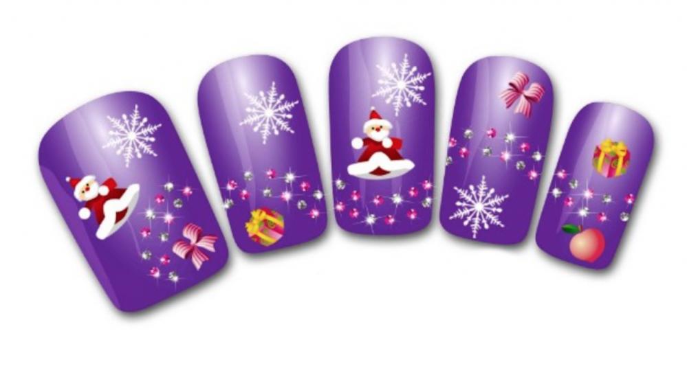 Nail art stickers bijoux d'ongles: Pères Noël flocons cadeaux décorations hiver   Price : 1.99  Ends on :   Voir sur eBay   …